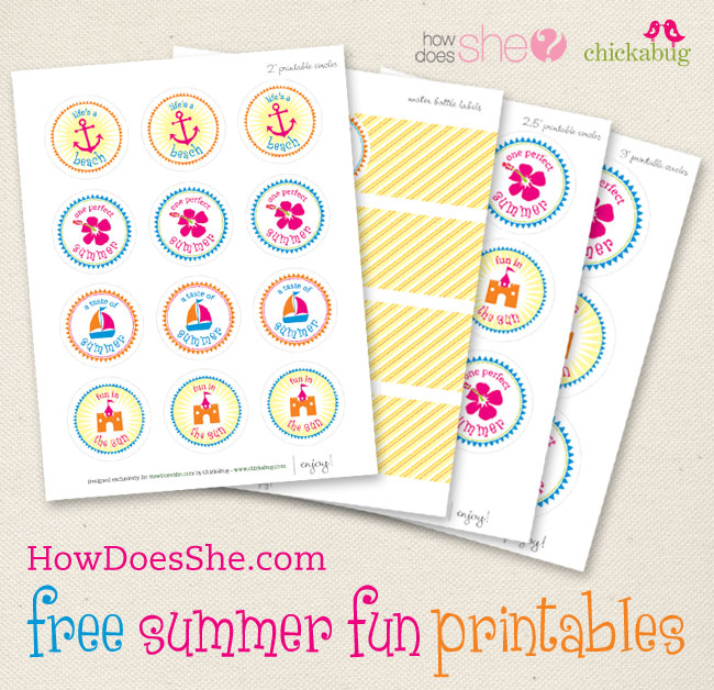 Free summer fun printables!