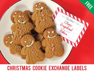 Free printable cookie exchange labels