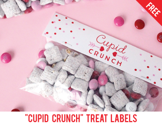 "Free printable ""cupid crunch"" valentine's day labels"