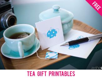 Free tea gift printables