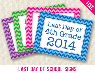 Free last day of school signs