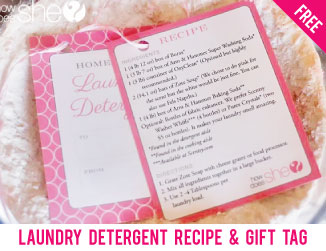 Free printable laundry detergent recipe & gift tag