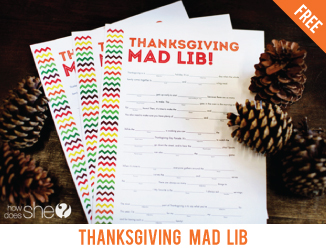 Free printable Thanksgiving mad lib