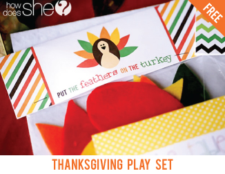 Free printable Thanksgiving play set