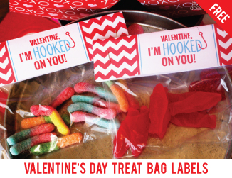 Free printable Valentine's Day treat bag labels