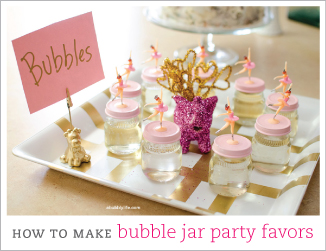 How to make DIY bubble jar favors