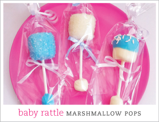 How to make baby rattle marshmallow pops
