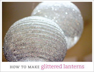 How to make glittered lanterns