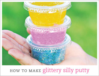 How to make glittery silly putty