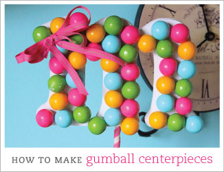 How to make gumball monogram centerpieces