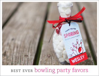 Best ever bowling party favors