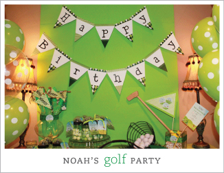 Golf theme birthday party
