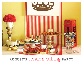 """London Calling"" theme birthday party"