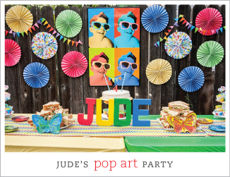 Pop art birthday party
