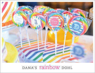 Rainbow theme Korean dohl (first birthday)