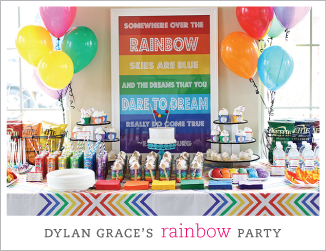 Beautiful rainbow birthday party
