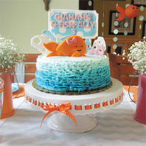 Pink goldfish party