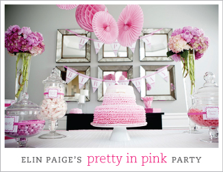 """Pretty in Pink"" first birthday party"
