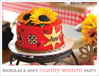 Country-western theme birthday party for a brother and sister