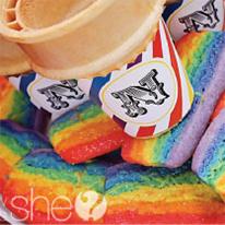 Rainbow clown birthday party