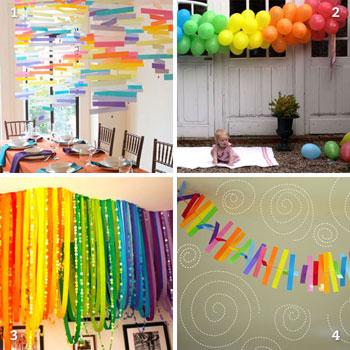 Diy Rainbow Party Decor Chickabug