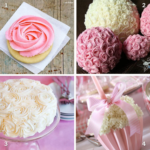 Ultra girlie flowery party ideas chickabug for Diy rose food