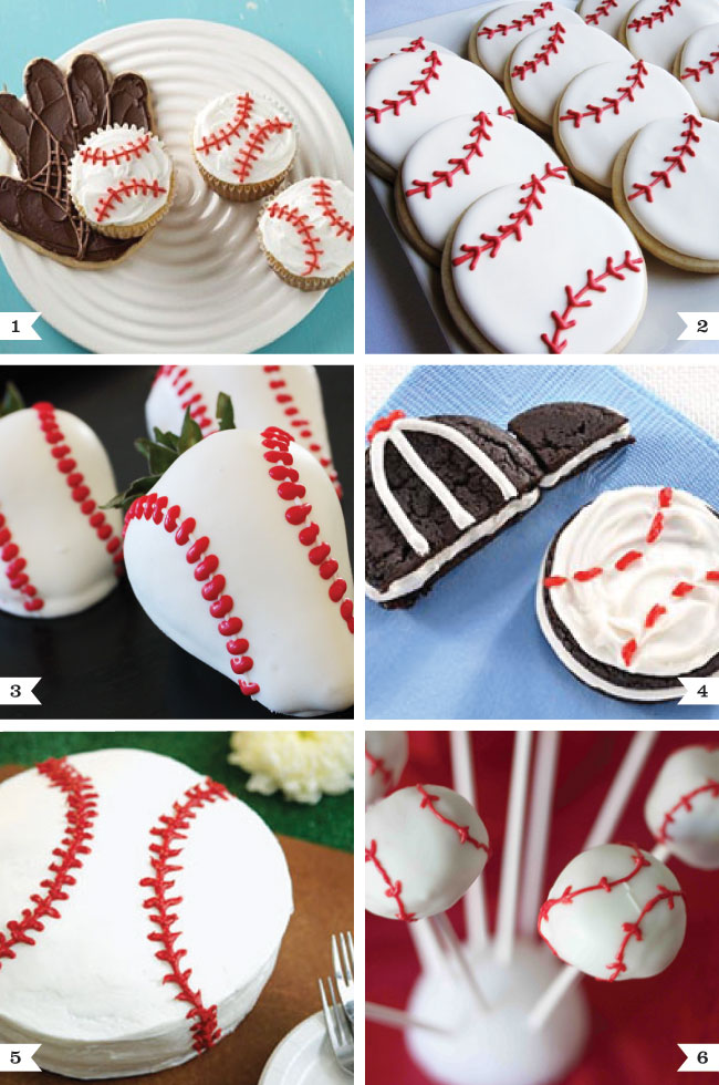 Baseball theme desserts - perfect for a baseball birthday party or for game day!