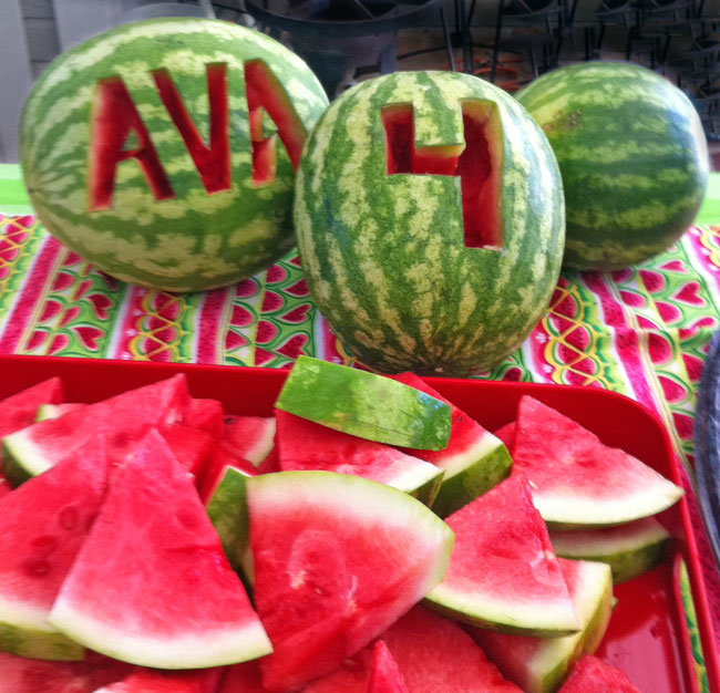 Watermelon Party Ava Is 4 Chickabug