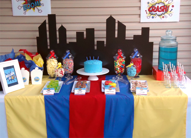 William turns 4 in this fantastic superhero themed birthday party it