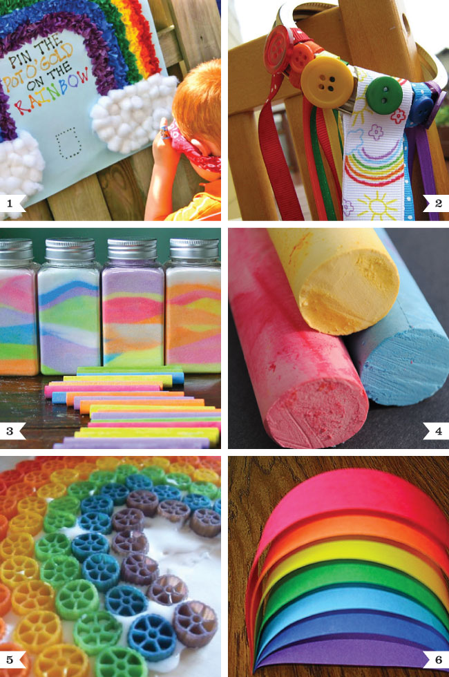 Rainbow party activities chickabug for Craft ideas for birthday parties