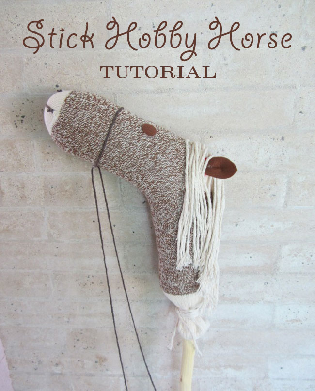 How to Make a Stick Horse From Socks