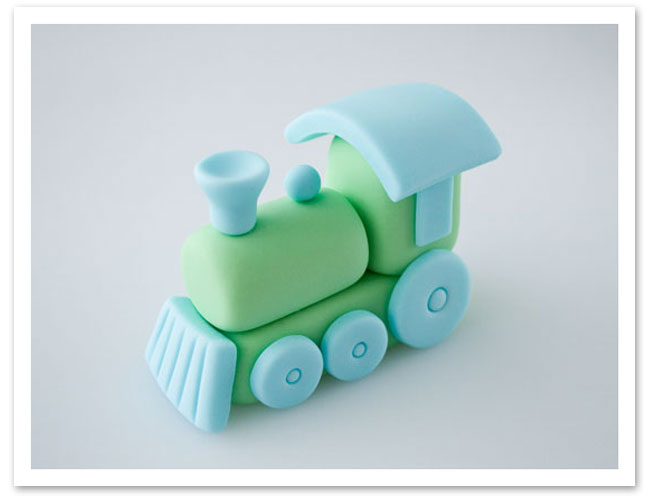 Fondant Train Cake Topper Tutorial