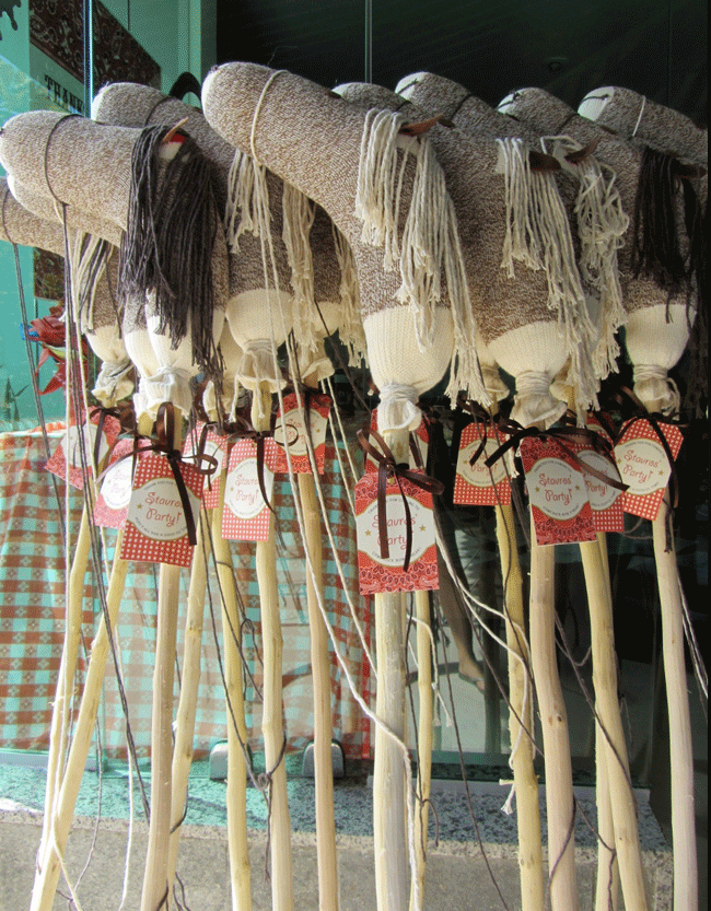 Stick Horse Party Favors