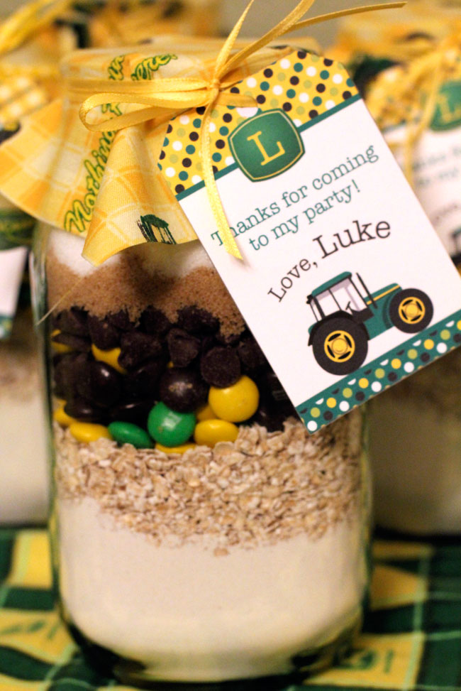 John Deere cookie mix - printable favor tag from Chickabug