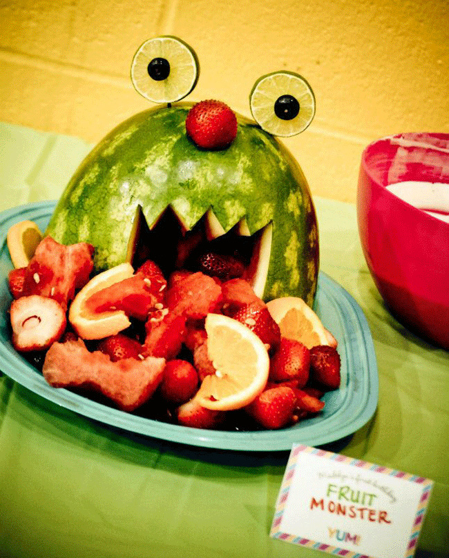 Watermelon fruit monster!