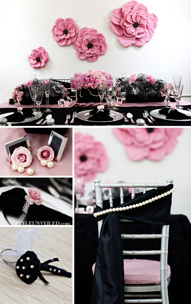 one pretty pin} Pink and black party inspiration | Chickabug