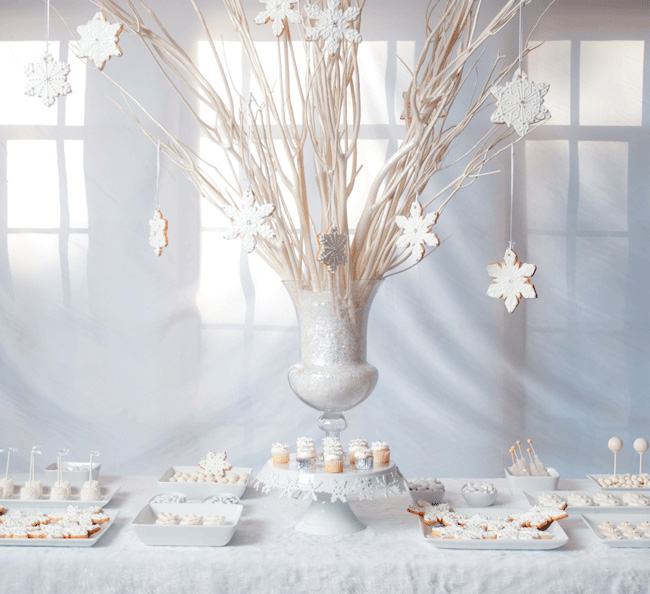 White Christmas Dessert Table Chickabug