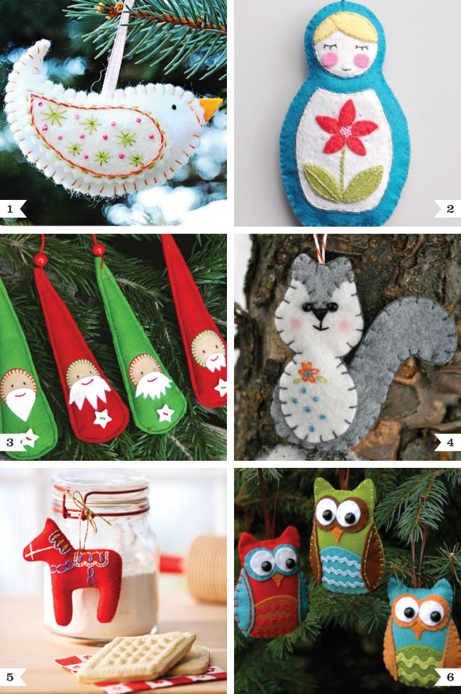 DIY felt Christmas ornaments | Chickabug