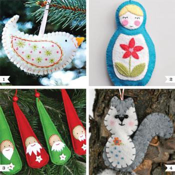DIY felt Christmas ornaments | Chickabug