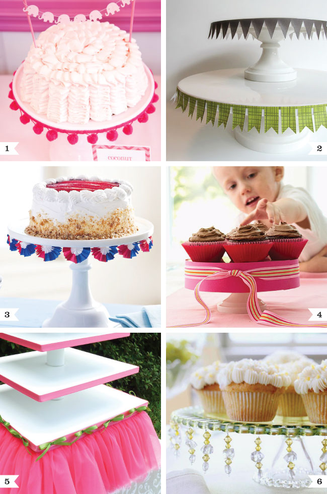 pretty ways to dress up a cake stand chickabug