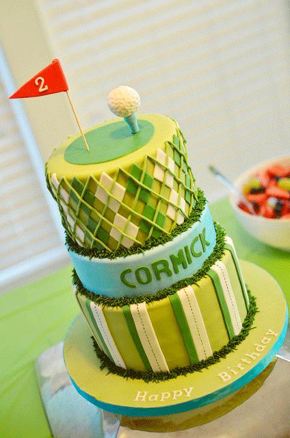 Fondant Golf Cake Design : Golf party: Cormick is 2! Chickabug