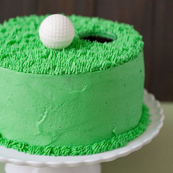 Simple And Chic Golf Theme Cake Chickabug