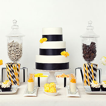 One Pretty Pin Black And Yellow Dessert Table Chickabug