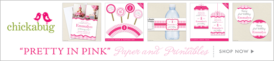 "Chickabug ""Pretty in Pink"" theme paper goods & printables"