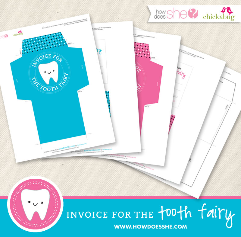 FREE printable Tooth Fairy kit - printable letter, envelope and sewing pattern included