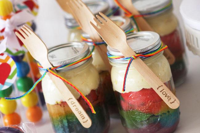 Rainbow theme party30