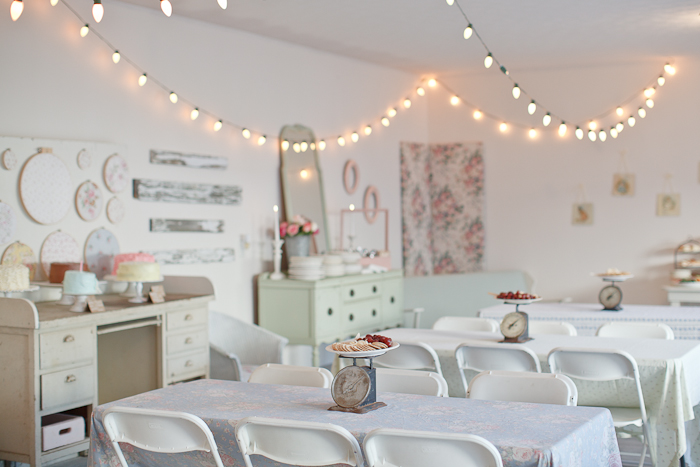 one pretty pin Shabby chic first birthday party Chickabug