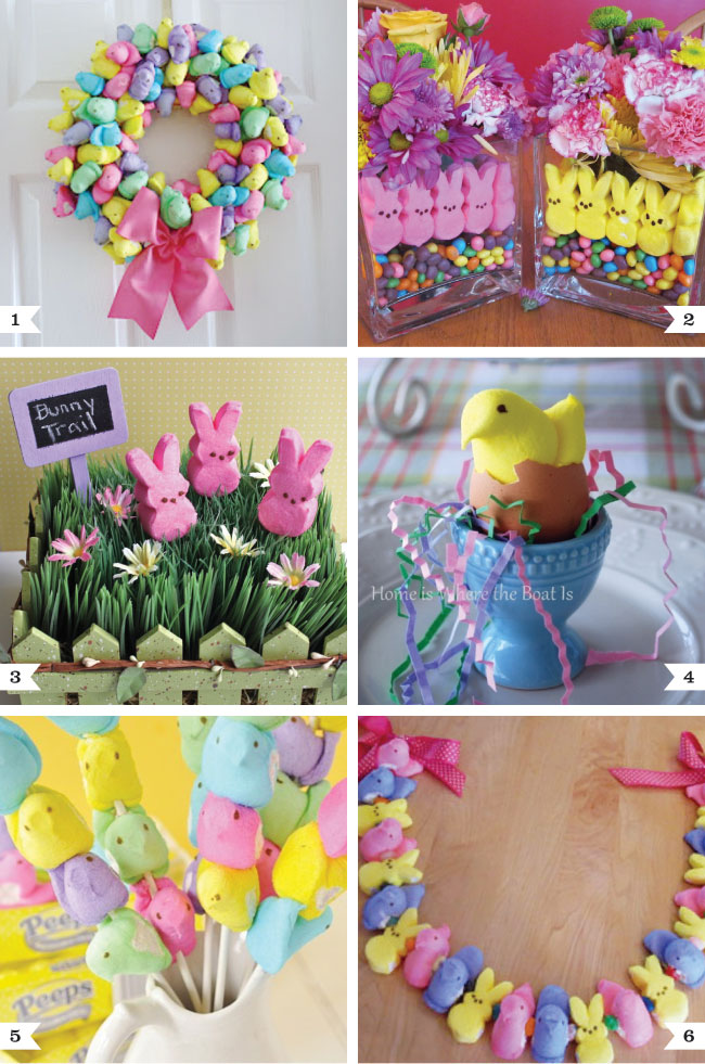 Peeps decoration ideas for easter chickabug