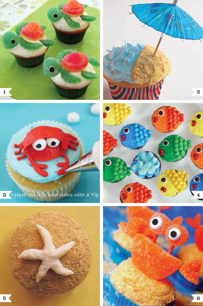 Under the Sea cupcake decorating ideas Chickabug