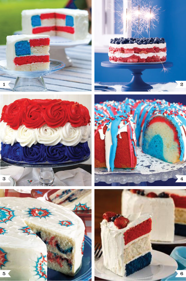 Fabulous 4th of July cake recipes!